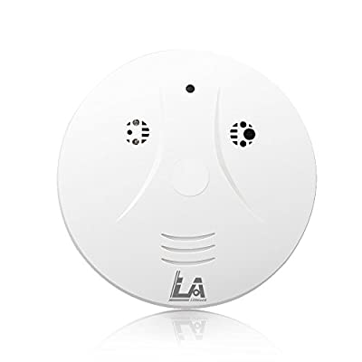 Littleadd Hidden Camera Smoke Detector, Motion Detection and Remote Control, Skin White (8GB Micro SD card included)