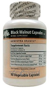 Black Walnut Capsules 90 Vegetarian Capsules by Genestra