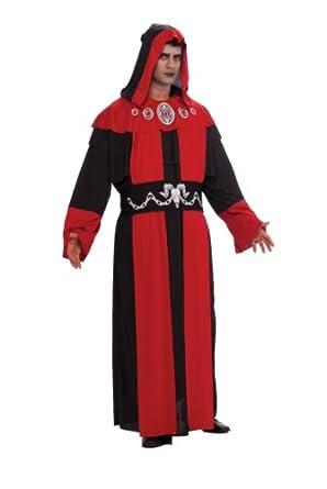 Rubie's Costume Adult Full Cut Gothic Robe Costume, Red/Black, 2X