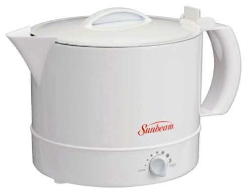 Great Features Of Sunbeam BVSBWH1001 Electric Hot Pot, White
