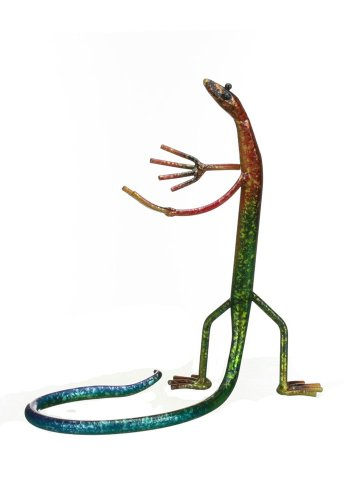 Prairie Schooner Gecko Holding a Wine Bottle Holder 9.5