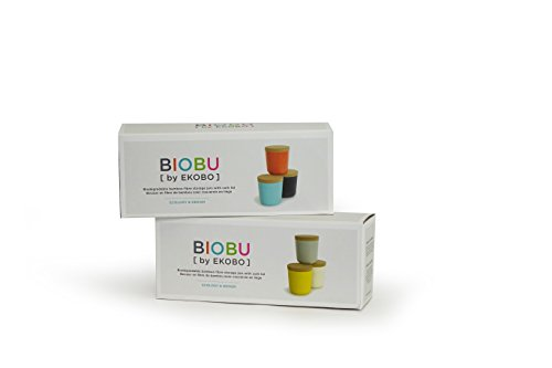 biobu by ekobo 15 oz gusto storage jar set in gift box large persimmon black lagoon food. Black Bedroom Furniture Sets. Home Design Ideas