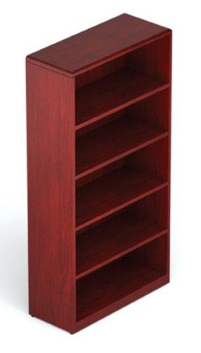 Offices to Go MR70BC Margate Wood Veneer Bookcase OTGBK01301 Cordovan