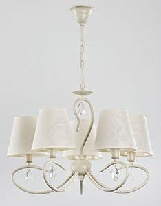 Alfa bali white 5 lustres lustre lampes suspendues lampes for Lustre ampoules suspendues