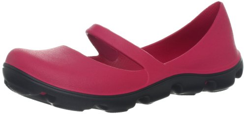 Crocs Duet Sport Mary Jane 12709-614-480, Damen Mary Jane Halbschuhe, Rot (Raspberry/Black), 41 EU / 7 UK