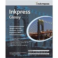 Inkpress Glossy Premium Single Sided Bright Resin Coated Photograde Inkjet Paper, 10.4mil., 240gsm., 8.5x11