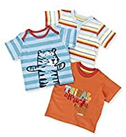 3 Pack Pure Cotton Assorted Safari T-Shirts