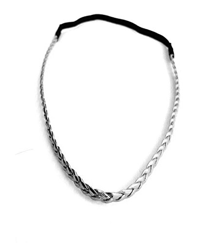 Headband tresse - argenté
