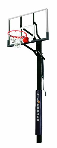 Silverback SB-54iG In-Ground Basketball System with 54-Inch Tempered Glass Backboard