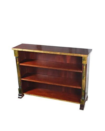 Empire-Style Bookcase, Brown/Tan/Green
