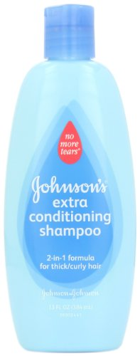 Johnson's Baby Shampoo No More Tears Shampoo/Conditioner Curly hair, 13 Ounce (Pack of 2)