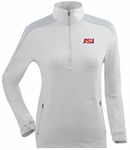 Arizona State Ladies Succeed 1 4 Zip Performance Pullover (White) by Antigua