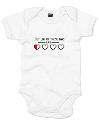 Just One Of Those Days, Printed Baby Grow - White/Black/Red 12-18 Months front-658041