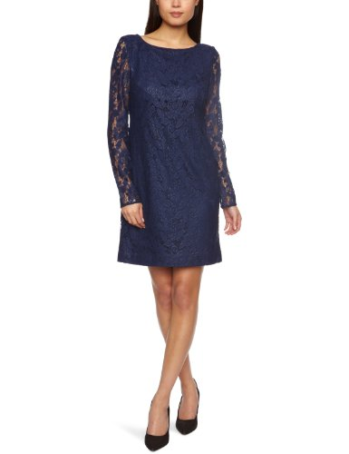 Aidan Mattox Short Lace Tunic Women's Dress Navy  10