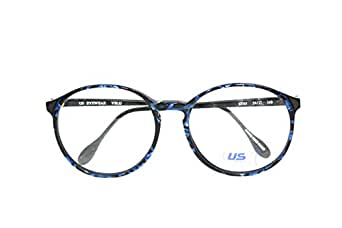 Amazon.com: Hipster Round Big Blue Tortoise Eyeglasses ...