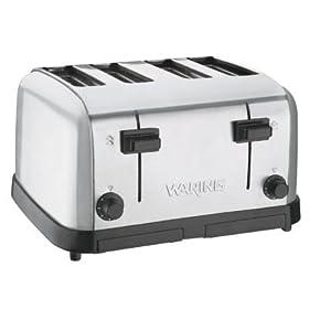 Waring Commercial Toaster Medium Duty Brushed Chrome