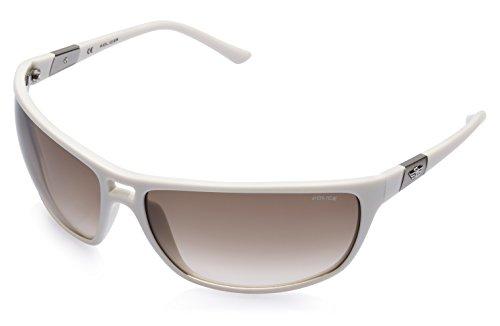 Police Police Rectangular Sunglasses (White) (S1716|3GF|70)