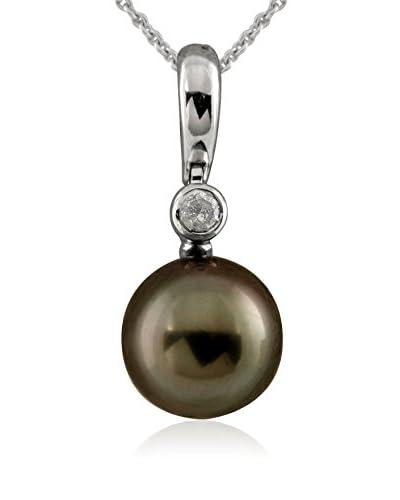 Splendid Diamond & 11-11.5mm Tahitian Pearl Pendant Necklace