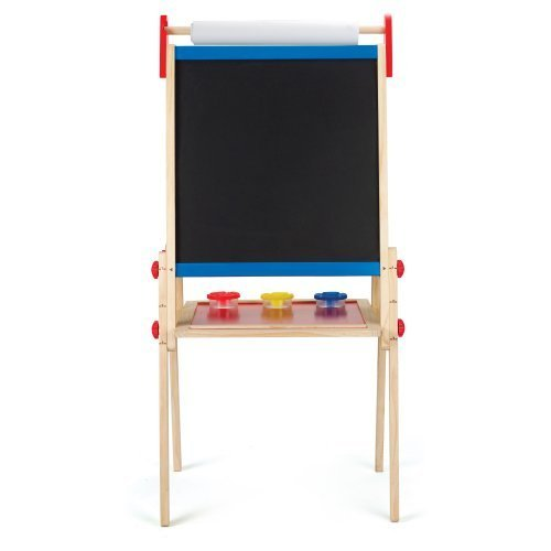 Hape-All-in-1-Easel-Childrens-Easels-Kids-Toy-Inspire-the-Artist-Inside-Your-Little-One-Double-sided-a-Blackboard-and-a-Magnetic-Whiteboard-Safe-Exciting-Stimulating-Toy