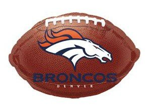 "Anagram International Denver Broncos Flat Party Balloons, 18"", Multicolor"