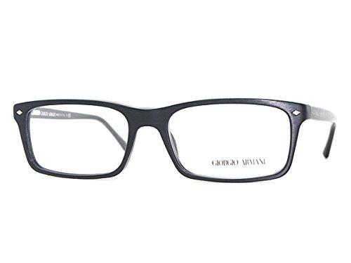 (ジョルジオ アルマーニ) GIORGIO ARMANI マットブラック×ブラック スクエア型 メガネフレーム 眼鏡 めがね ARM-GA-7036-5001 [並行輸入品]