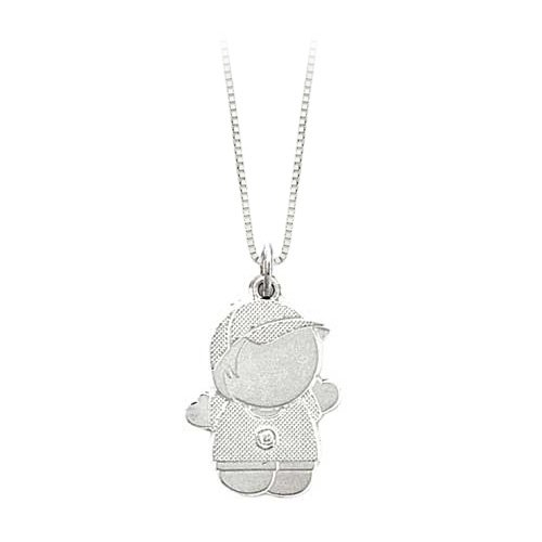 Sterling Silver Boy Moppet Pendant with Chain