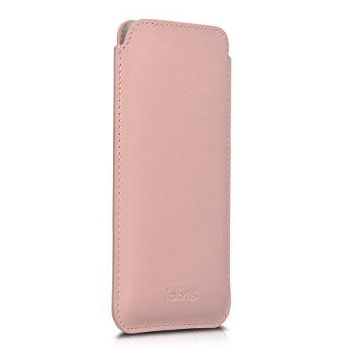 kalibri-Leder-Tasche-Hlle-fr-Apple-iPhone-6-6S-7-Handy-Case-Cover-Echtleder-Schutzhlle-in-Rosa