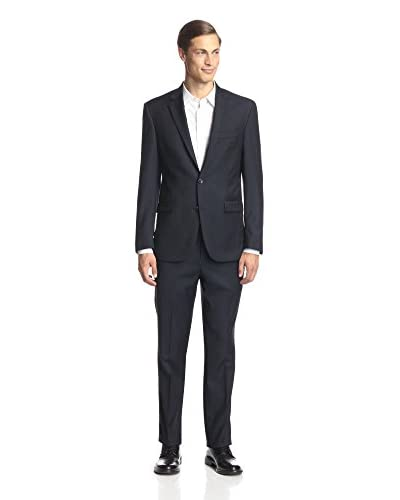 Kenneth Cole New York Men's Two Button Tonal Widestripe Suit