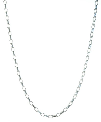 925 Sterling Silver Ladies Belcher Chain - 46cm, 6 Grams