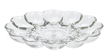 Anchor Hocking Glass Deviled Egg Plate