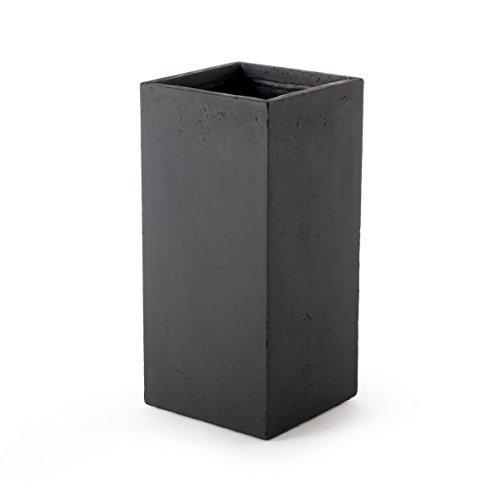 pflanzs ule blumenweide pillar schwarz 33x33x70cm. Black Bedroom Furniture Sets. Home Design Ideas