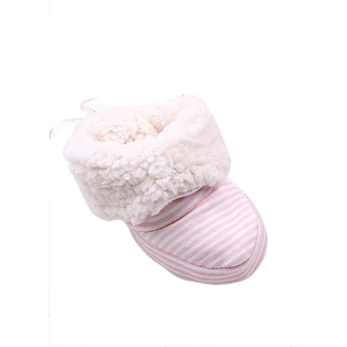 Scarpine Neonata,Xinantime Inverno Caldo Boot Bambino Prewalker Shoes (Rosa)