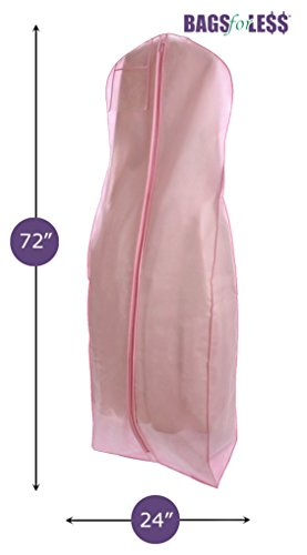 Brand New Pink Breathable Wedding Gown Dress Garment Bag by BAGS FOR LESSTM (Garment Bag Light compare prices)