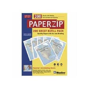 Blueline E1104E Paperzip Presentation Kit Cover Refill Pack, 50 Front/50 Back Covers