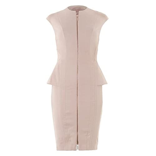 TED BAKER Light Pink Zip Dress