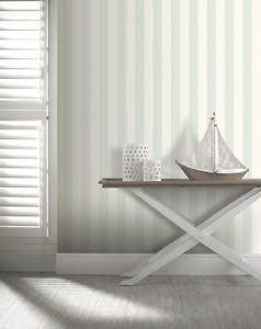 Opera Linen Stripe Wallpaper - Duck Egg by New A-Brend