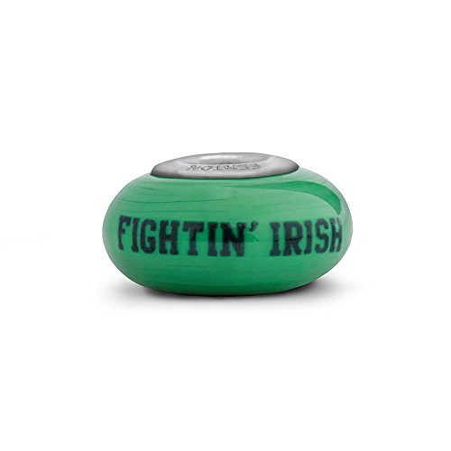 Notre Dame Fighting Irish Fenton Glass Bead Fits Most European Style Charm Bracelets