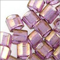 Miyuki Delica Seed Bead Hex Cut 8/0 Trsp. Gold Luster Amethyst (3 Gram Tube) Beads