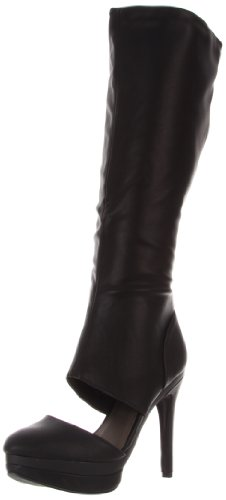 Michael Antonio Women's Bowler Knee-High Boot,Black,6 M US