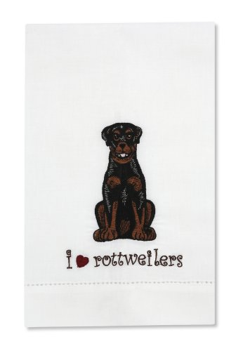 Rescue Me Now Rottweiler Tea Towel, 11 By 7-Inch, Embroidered front-320114