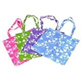 "~ 12 ~ Hibiscus Print Tote Bags ~ Large 16.5"" ~ Non-woven Material ~ New ~ Luau Party, Beachbag,"