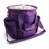 Equestria Sport Horseshoes Deluxe Grooming Tote, Color: Purple, Size: 12 inch