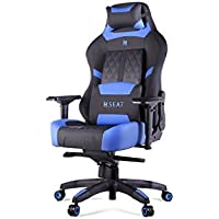 N Seat PRO 600 Series Racing Gaming Style Ergonomic Design Swivel Chair (Blue)