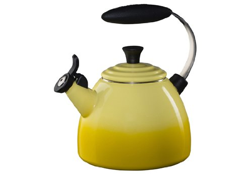 Le Creuset Enameled Steel Halo Tea Kettle, 1-1/2-Quart