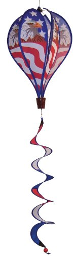 In the Breeze Patriot Eagle 6-Panel Kinetic Hot Air Balloon Wind Spinner
