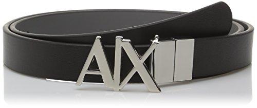 A X Armani Exchange Women's AX Logo Hinge Belt, Black/Grey, Large (Ax Belt compare prices)