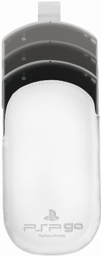 OFFICIAL SONY LEATHER SLIP CASE - WHITE (PSP GO)