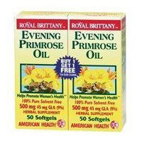 Evening Primrose Oil 500Mg Royal Brittany Twin Pack American Health Products 50+