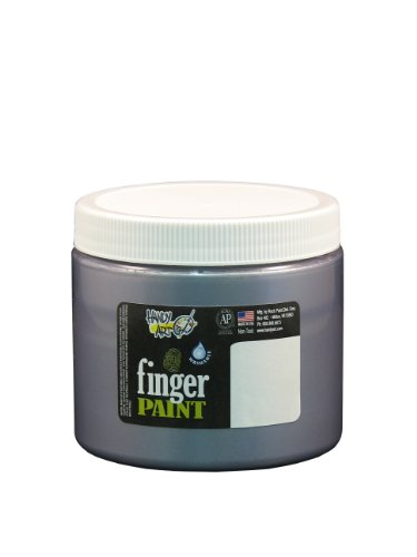 Handy Art by Rock Paint 241-166 Washable Finger Paint, 1, Silver, 16-Ounce