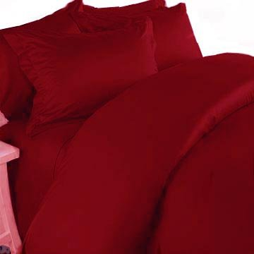 300TC Egyptian Cotton FULL QUEEN RED SOLID DUVET COVER SET BY MARRIKAS